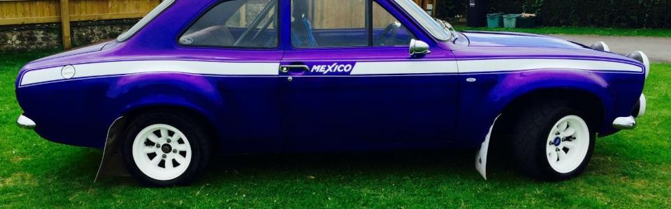 Purple 1973 Ford Escort MK1 Rally 2